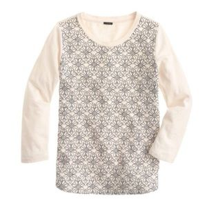 J.Crew Embroidered Floral Tee